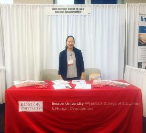 Casey at BU expo table