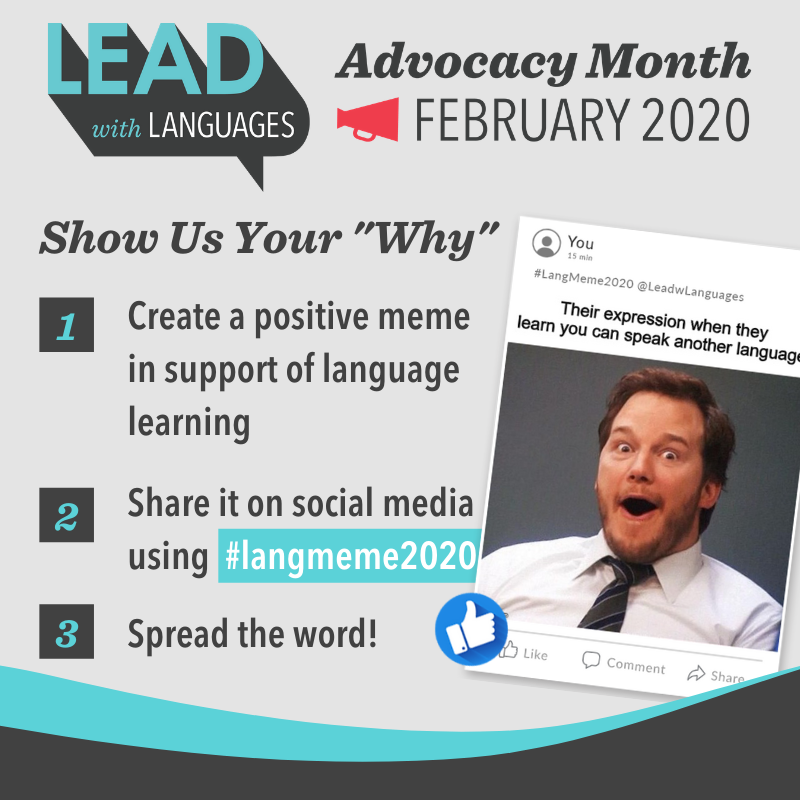 Lend Your Voice to Lead with Languages Advocacy Month 2020 - Lead with Languages