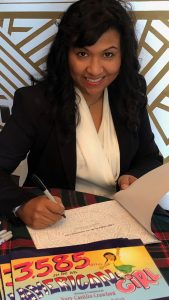 Nury at a book signing