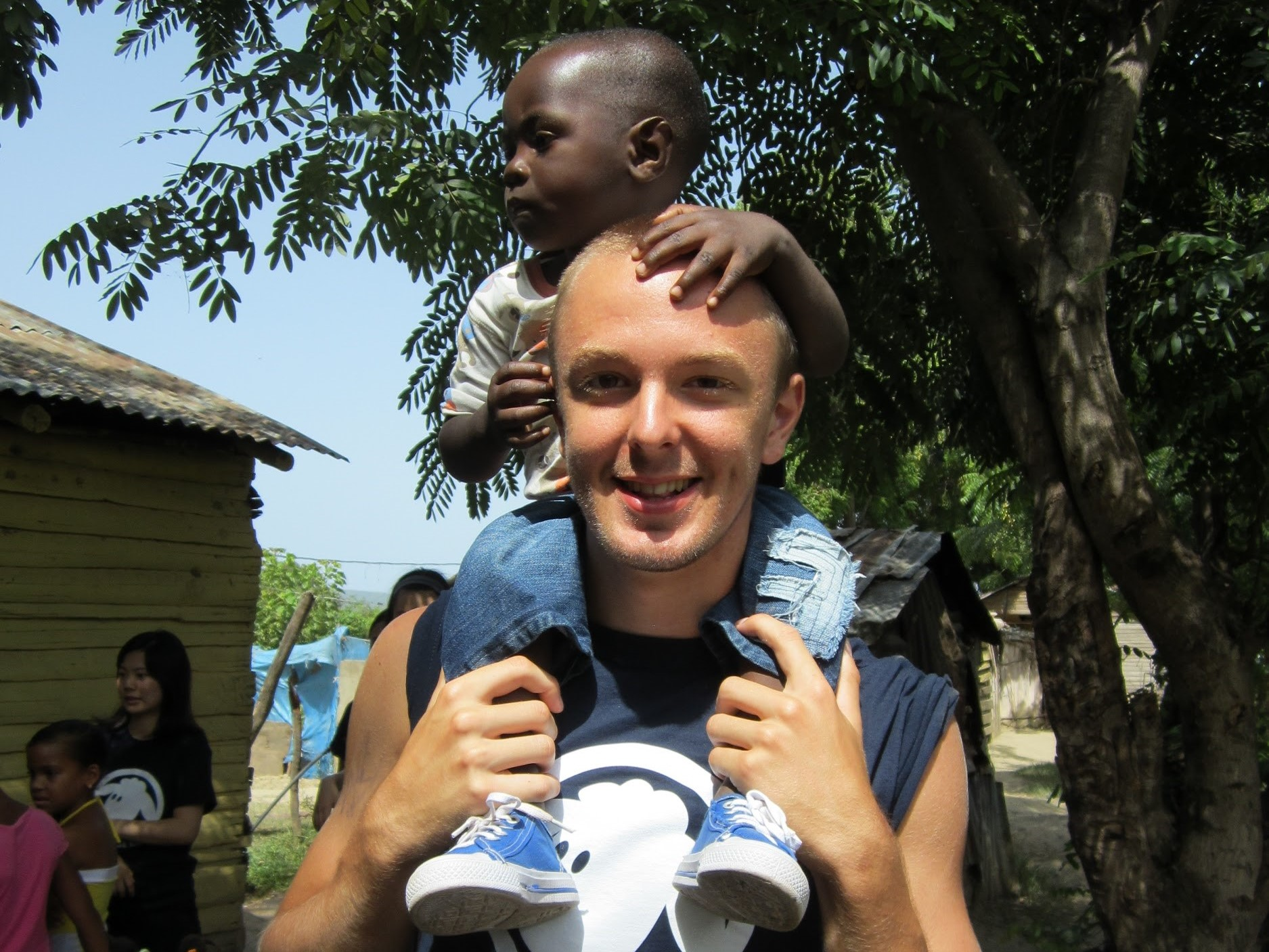 JT working with children abroad