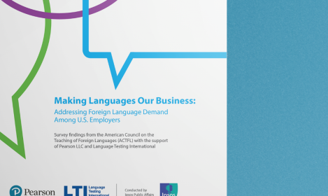 "Close view of ""Making Languages Our Business"" report copy"