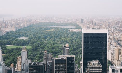 view of central park NYC from above